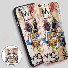 in memory basquiat bela manson Phone Ring Holder Soft TPU Silicone Case Cover for iPhone 4 4S 5C 5 SE 5S 6 6S 7 Plus