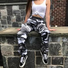 CAMO CARGO PANTS ( 5 COLORS ) sold by Foreveronline. Shop more products from Foreveronline on Storenvy, the home of independent small businesses all over the world. Hipster Outfits, Teenage Outfits, Swag Outfits, Cute Casual Outfits, Outfits For Teens, Girl Outfits, Fashion Outfits, Fashion Trends, Casual Pants