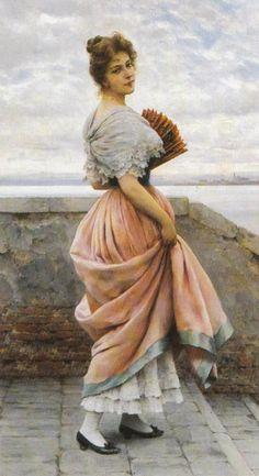 Eugene de Blaas - A Venetian Beauty #3