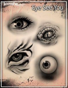 Eyeballs Airbrush Stencil Template Airsick