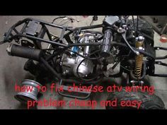 Chinese Engine Wiring Diagram and How To Fix Chinese Atv Wiring. No Wiring, No Spark, No Problem. Chinese 4 Wheeler, Chinese Motorcycles, Triumph Motorcycles, Custom Motorcycles, Motorcycle Wiring, Chinese Scooters, Bike Engine, Electrical Wiring Diagram, Planes