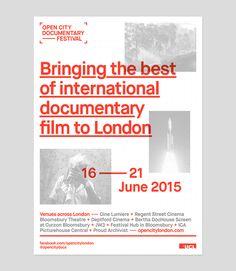 Open City Documentary Festival London 2015 on Behance