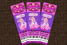 Barbie Princess and the Popstar Birthday Party Invitation - Ticket - Custom, Printable