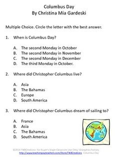 Columbus Day: These fun activities will help you and your students celebrate Columbus Day and save you time and money!