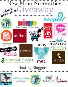 $600 value jackpot of 15 awesome products for #NewMom's!! Running Feb 5 - 19 - don't miss out!! Sponsors & Co-Hosting Bloggers: @Nelson Schicke B Mum @NuRoo | Daniela + Hope | Daniela + Hope @Teleflora @bebe au Lait @Heather Creswell Tomoyasu @Melissa Spivak. Patel's @CredibleCravings @Donna Suh Wageman Mama . @Erik Yesayan Designs @Eepples @Vitabath @Lisa Cooksey Bra Express @Mary Rasmussen With My Baby @MommieDe NYC NYC @obs form Motherhood @Stephanie Close Barnhart @Matty Chuah Badass Breastfeeder @Lara Brooks Campbell @Kathy Savory Savings @Coupon Sandra and Lesson Plans