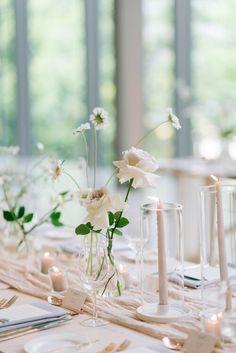 Blush Wedding Centerpieces, Wedding Table Flowers, Floral Wedding, Wedding Decorations, Wedding Blush, Centrepieces, Ethereal Wedding, Timeless Wedding, Cocktail Table Decor
