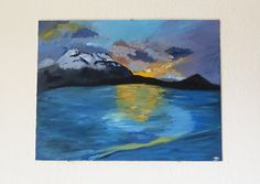Patagonia Landscape Painting Fiordo Ultima by bhenderson145