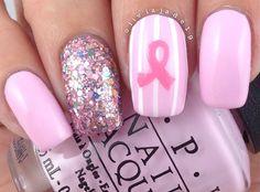 T Cancer Awareness Nail Art Tattoos