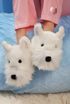 Amazon.com: Aroma Home Dog Slippers - Westie: Shoes