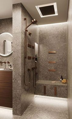 simple bathroom decor small 63 Luxury Walk in Shower Tile Ideas That Will Inspire You Part 39 ; Ux Design, Home Design, Design Ideas, Design Trends, Interior Design, Design Inspiration, Condo Bathroom, Steam Showers Bathroom, Bathroom Interior