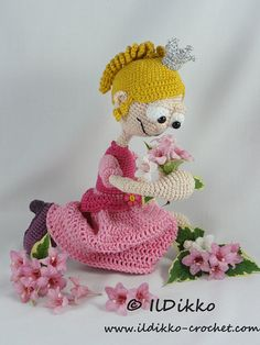 Amigurumi Crochet Pattern  Princess Rosaline by IlDikko on Etsy
