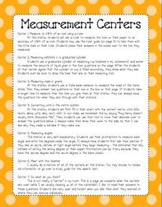5th Grade Math Measurement: Centers