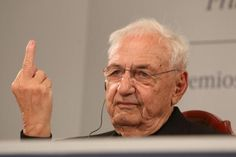 "Canadian architect Frank Gehry has responded to criticism of his own architectural style by giving an audience of journalists the middle finger and saying that most architecture today has ""no sense of design"""