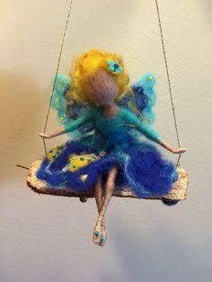 Needle felted FairyWaldorf inspiredWool Fairy in by DreamsLab3