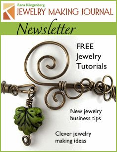 Jewelry Making Journal Newsletter {great website for jewelry making and hints to make things nicer!]