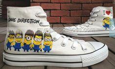 Despicable Me Shoes minion shoes High-top Painted Canvas Shoes,High-top Painted Canvas Shoes