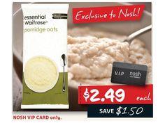 Waitrose Essential Porridge Oats is currently not available on Lasoo Vip Card, Porridge Oats, Essentials, Change, Winter, Food, Products, Winter Time, Essen