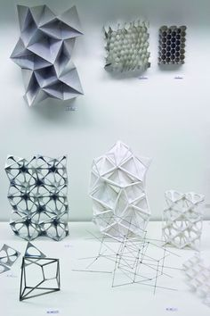 Material Research (Exhibited at workshop) Barkow Leibinger - Structure & Construction - Origami Folding Architecture, Parametric Architecture, Parametric Design, Architecture Design, Architecture Geometric, Innovative Architecture, Architecture Sketchbook, Parametrisches Design, Module Design