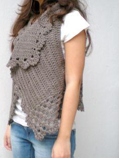 Crochet Vest by crochetbutterfly, via Flickr
