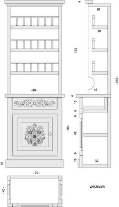 IN FRENCH -Mobilier Alsacien - maison de poupée - vitrines miniatures (Bing Translator used for English - DOLL'S HOUSE FURNITURE) Good Pictures and Diagrams understood in any language.
