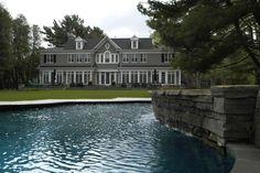 New Home Build – Rear Exterior & Pool, Oakville | whitehallhomes.ca