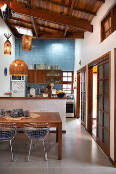Querido Refúgio, Blog de decoração e organização com loja virtual: Sala de estar e cozinha integrada: ideias de Rosenbaum