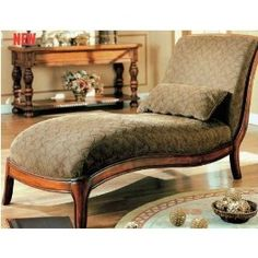 Chaise lounge. Love this for the library.