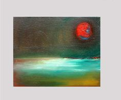 Red MoonOriginal  oil painting Vesna Antic by VESNAsART on Etsy, $40.00
