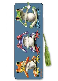 Artgame 3D No Evil Frogs Bookmark
