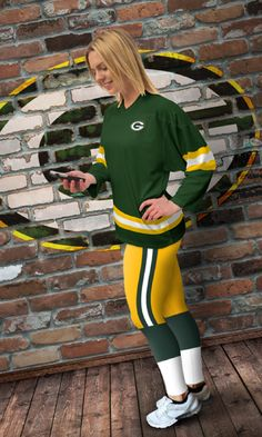 Green Bay Packer Leggings. Do you love the Packers? As a Diehard Green Bay fan, we are always trying to show off our love & support for the Packers, I mean thats what we're supposed to do right? These limited edition, high quality leggings look cool, feel great, and best of all, it shows the world your pride and love for the Green Bay Packers! (Not to mention they look awesome) So if you bleed green and gold.. this is a match made in heaven!