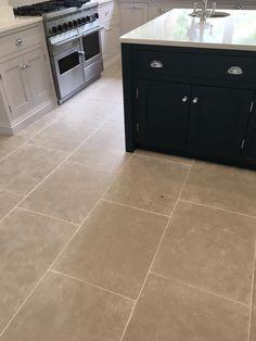 Paris Grey Limestone Tiles Kitchen Floor In 2019 Grey