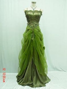 This fairy dress    in gossamer green  is one of the loveliest  I've ever seen.