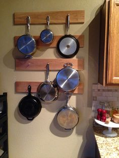 Kitchen pot rack!