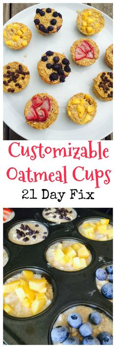 These 21 Day Fix Oatmeal Cups are perfect for an on the go breakfast! Customize them with any flavor you'd like and make them for family! 21 Day Fix Breakfast 21 Day Fix Breakfast, Breakfast On The Go, Best Breakfast, Breakfast Recipes, Breakfast Ideas, Breakfast Cups, Breakfast Casserole, Breakfast Healthy, Healthy Brunch