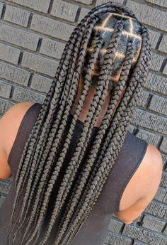 cornrows braided hairstyles: 50 different lovely cornrow braided hairstyles Trending Big Box Braids, Blonde Box Braids, Jumbo Box Braids, Black Girl Braids, Box Braids Styling, Braids For Black Hair, Girls Braids, Box Braids On Kids, Box Braids Hairstyles