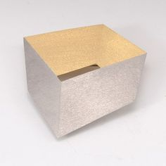 """Claude Chavent at Patina Gallery. Pin/Pendant, """"Cube,"""" 18k Gold and Platinum, 1.75"""" by 2"""""""
