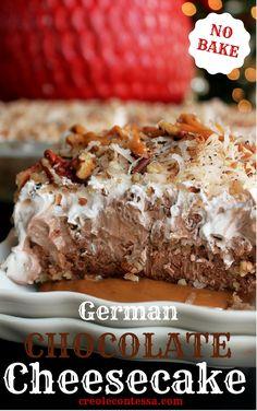 No Bake German Chocolate Cheesecake -Creole Contessa #SweetenTheSeason #CollectiveBias #ad