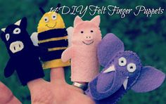 For the Girls, stockings? Small Things: 14 Felt Finger Puppets
