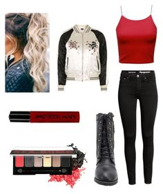 """Untitled #342"" by laurel8760 on Polyvore featuring Topshop and NYX"