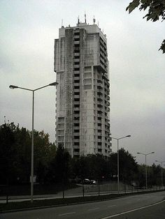 Brutalist tower block
