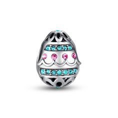 "Easter egg openwork charm  ❤ #Glamulet jewelry,fits all brands bracelet. Wonderful gifts for family, lover, friends...Get 5% off on www.glamulet.com with coupon code ""PIN5"""