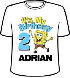 Personalized Its My Birthday Spongebob By SensationalShirtsLLC