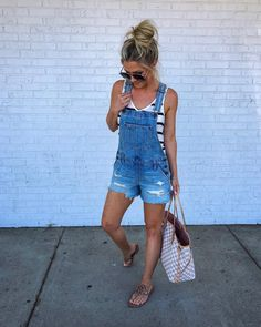 Overalls! Cute for summer with a tank?