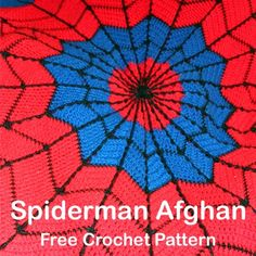 Crochet For Children: Spiderman Afghan Free Crochet Pattern