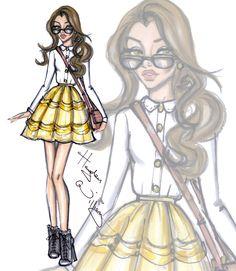 Hayden Williams Fashion Illustrations | Disney Diva Fashionistas by Hayden Williams: Belle