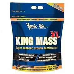 Ronnie Coleman Signature Series, King Mass-XL Super Anabolic Growth Accelerator, Dark Chocolate, 15 Pound (Pack of Sports Nutrition, Nutrition Education, Fitness Nutrition, Bodybuilding Recipes, Bodybuilding Supplements, Protein Supplements, Nutritional Supplements, Ronnie Coleman Workout, Muscle Building