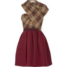 Carven Asymmetric twill tartan dress and other apparel, accessories and trends. Browse and shop related looks.