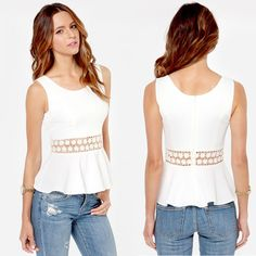 Are you looking for the simple and elegant clothes for a long time? Here is the white #women's tops for you.Why not have a try?