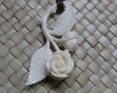 Anchor Bone Pendant Bali Bone Carving unique handmade