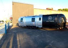 The AETHERstream is an Amazing Pop-Up Apparel Shop Recycled from an Old Airstream Trailer